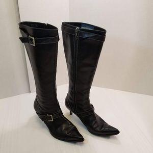 EUC. Joan And David Calfskin Boots size 8 1/2M